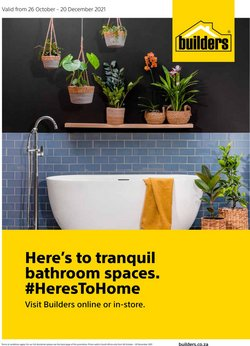 DIY & Garden offers in the Builders Warehouse catalogue ( Published today)