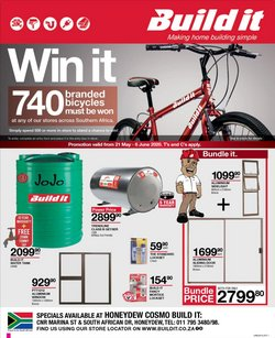 DIY & Garden offers in the Build It catalogue in Johannesburg ( Expires tomorrow )