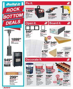 Gas stove specials in Build It