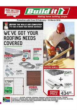 Build It deals in the Pretoria special