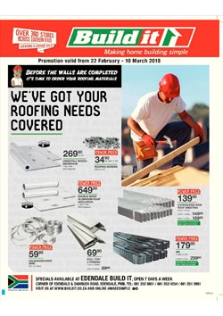 Build It deals in the Johannesburg special
