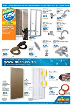 Toilets offers in the Mica catalogue in Cape Town