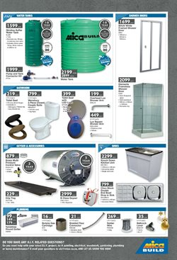 Water tank offers in the Mica catalogue in Cape Town