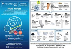 Toilets offers in the Plumblink catalogue in Cape Town