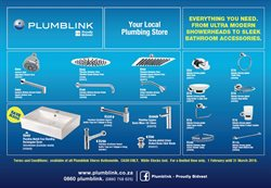 Plumblink deals in the Cape Town special