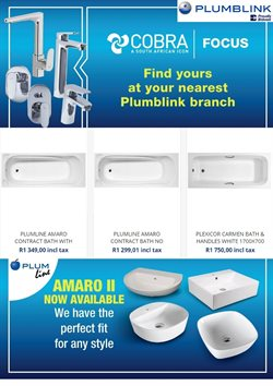 Plumblink deals in the Port St Johns special