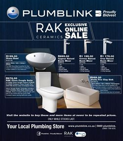 DIY & Garden offers in the Plumblink catalogue in Roodepoort ( 1 day ago )