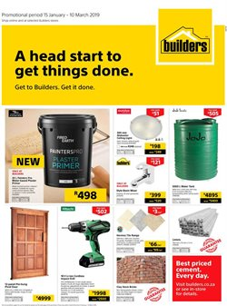 Water tank offers in the Builders Express catalogue in Cape Town