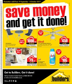 DIY & Garden offers in the Builders Express catalogue in Cape Town