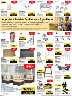 Batteries offers in the Builders Express catalogue in Cape Town