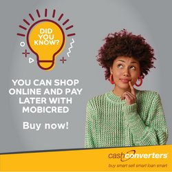 Cash Converters offers in the Cash Converters catalogue ( Expires today)