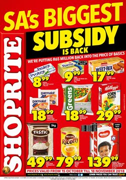 Shoprite deals in the Johannesburg special