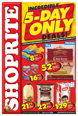 Shoprite deals in the Pretoria special