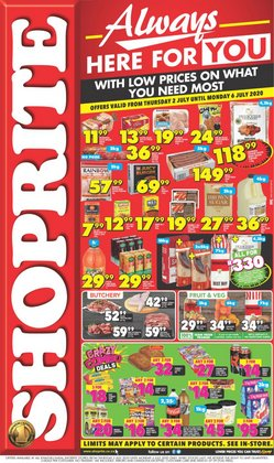 Rice, pasta and beans specials in Shoprite