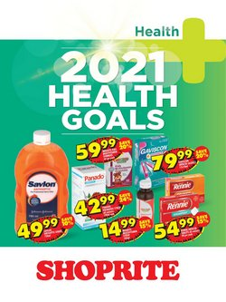 Goal specials in Shoprite