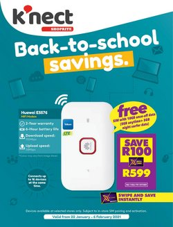 Back to school offers in the Shoprite catalogue ( 10 days left)