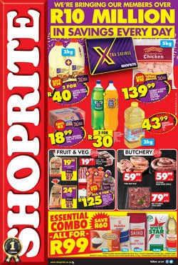 Groceries offers in the Shoprite catalogue in Port Elizabeth ( Expires today )