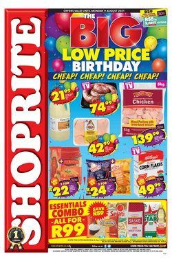 Groceries offers in the Shoprite catalogue ( 7 days left)