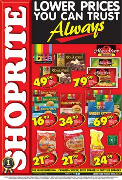 Groceries offers in the Shoprite catalogue ( 12 days left)
