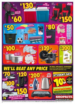 Furniture offers in the Shoprite catalogue in Cape Town