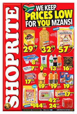Groceries offers in the Shoprite catalogue in Johannesburg