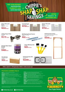 Timbercity deals in the Cape Town special