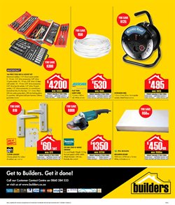Grinder offers in the Builders Trade Depot catalogue in Cape Town