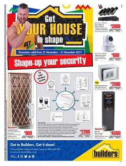 Builders Trade Depot deals in the Cape Town special