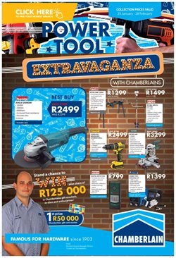 DIY & Garden offers in the Chamberlain catalogue in Polokwane ( 2 days left )