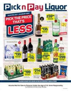 Pick n Pay Liquor offers in the Pick n Pay Liquor catalogue ( 6 days left)