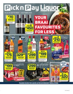 Groceries offers in the Pick n Pay Liquor catalogue ( 1 day ago)