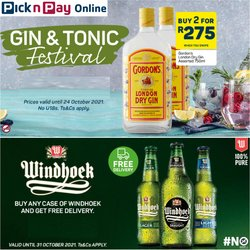 Groceries offers in the Pick n Pay Liquor catalogue ( Expires tomorrow)