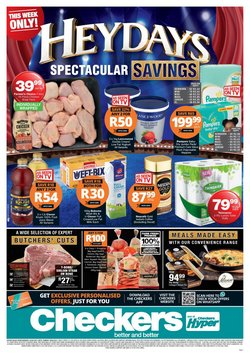 Groceries offers in the Checkers Hyper catalogue in Roodepoort ( Expires today )
