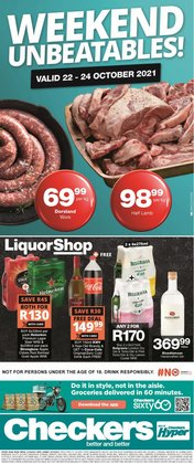 Groceries offers in the Checkers Hyper catalogue ( Expires tomorrow)