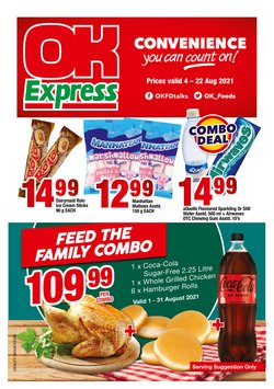 OK Express offers in the OK Express catalogue ( Published today)