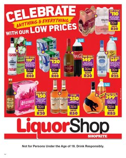 Groceries offers in the Shoprite LiquorShop catalogue ( 15 days left)