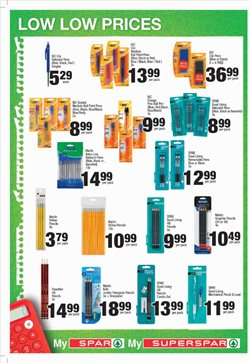Pens offers in the Spar catalogue in Cape Town