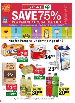 Spar deals in the Johannesburg special