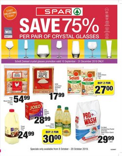 Spar deals in the Roodepoort special