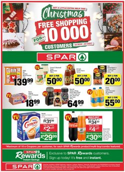 Fruit juice specials in Spar