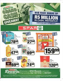 Groceries offers in the Spar catalogue ( 8 days left)