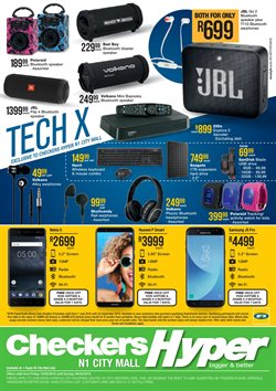 Phones offers in the Checkers Hyper catalogue in Cape Town