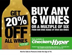 Wine offers in the Checkers Hyper catalogue in Cape Town