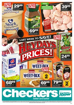 Groceries offers in the Checkers Hyper catalogue in Johannesburg