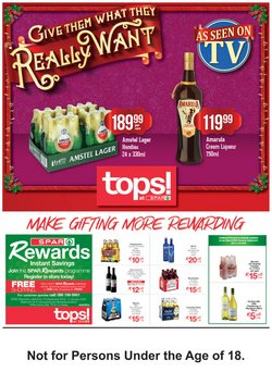 Spar Tops deals in the Johannesburg special