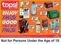 Whiskey specials in Spar Tops