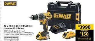 Hammer Drill Dewalt offer at