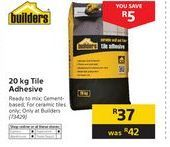 Adhesive cement offer at R 37