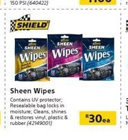 Sheen Wipes offer at R 30