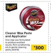 Cleaner Wax Paste and Applicator offer at R 300
